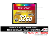 Transcend 32gb Compact Flash CF card 1000x