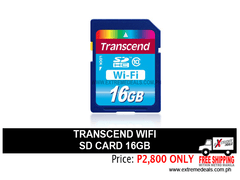 Transcend 16gb WIFI SD Card