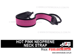 Hot Pink Neoprene Neck Strap
