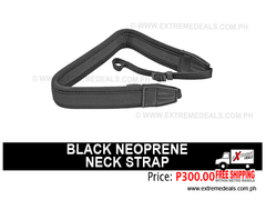 Black Neoprene Neck Strap