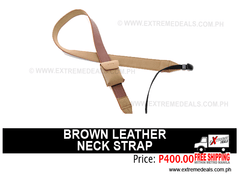 Brown Leather Camera Neck Strap