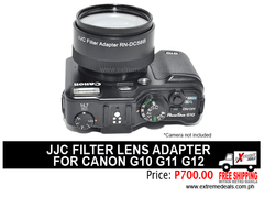 JJC Canon G10 G11 G12 Filter Lens Adapter