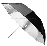 Reflective Umbrella 33-inch (Black & Silver)