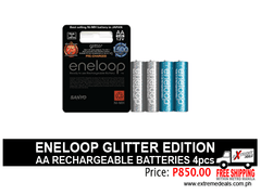 Eneloop AA Limited Edition Glitter Batteries 4s