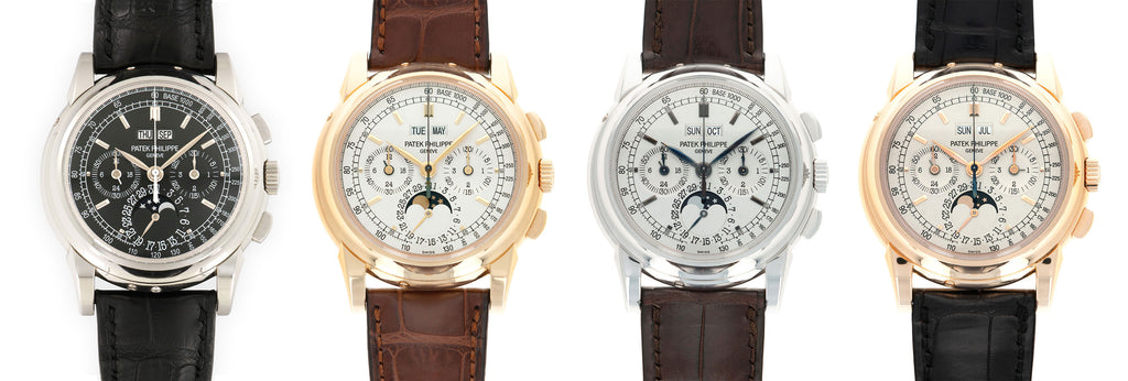 Patek Philippe 5970 in platinum, yellow gold, white gold and rose gold