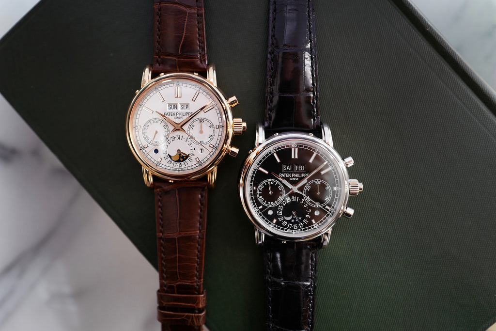 Two Patek Philippe Perpetual Calendar Chrono 5204R and 5204P