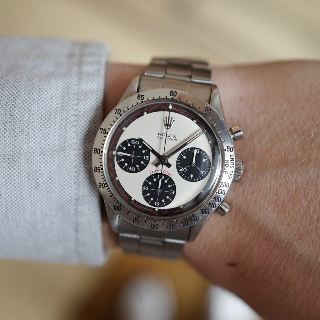 "Rolex ""Paul Newman"" Daytona, ref. 6239 on wrist"