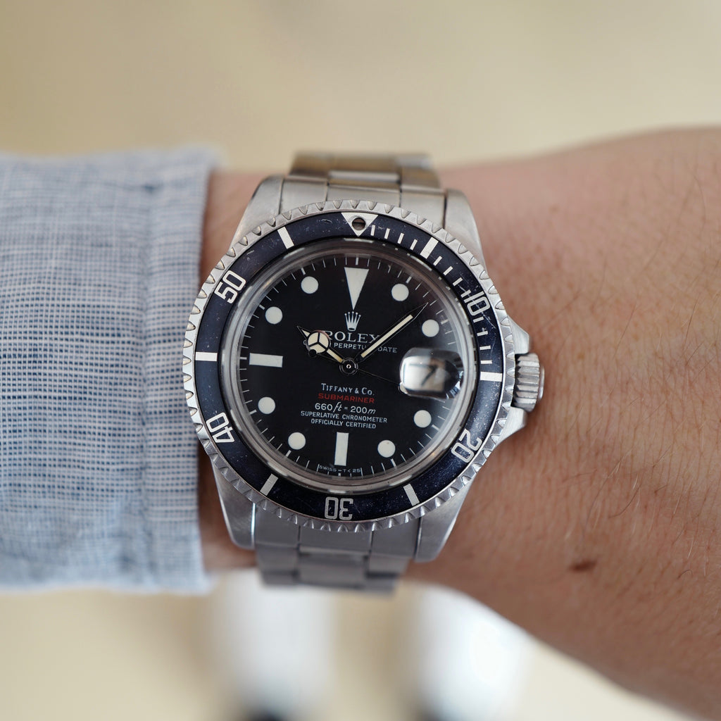 Rolex Red Submariner 1680 retailed by Tiffany & Co.