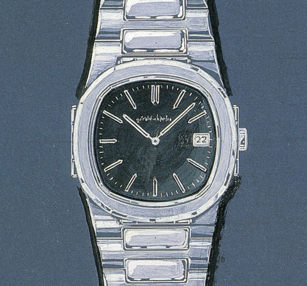 Original Gerald Genta drawing of Patek Nautilus