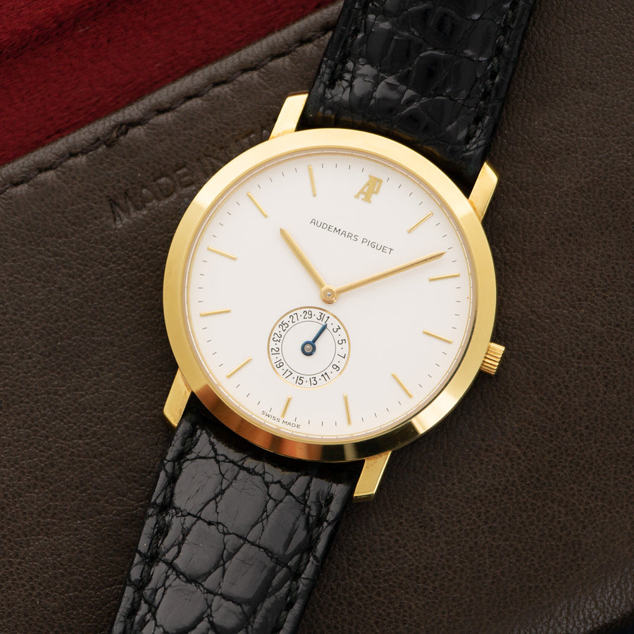 Audemars Piguet Yellow Gold Calendar Strap Watch