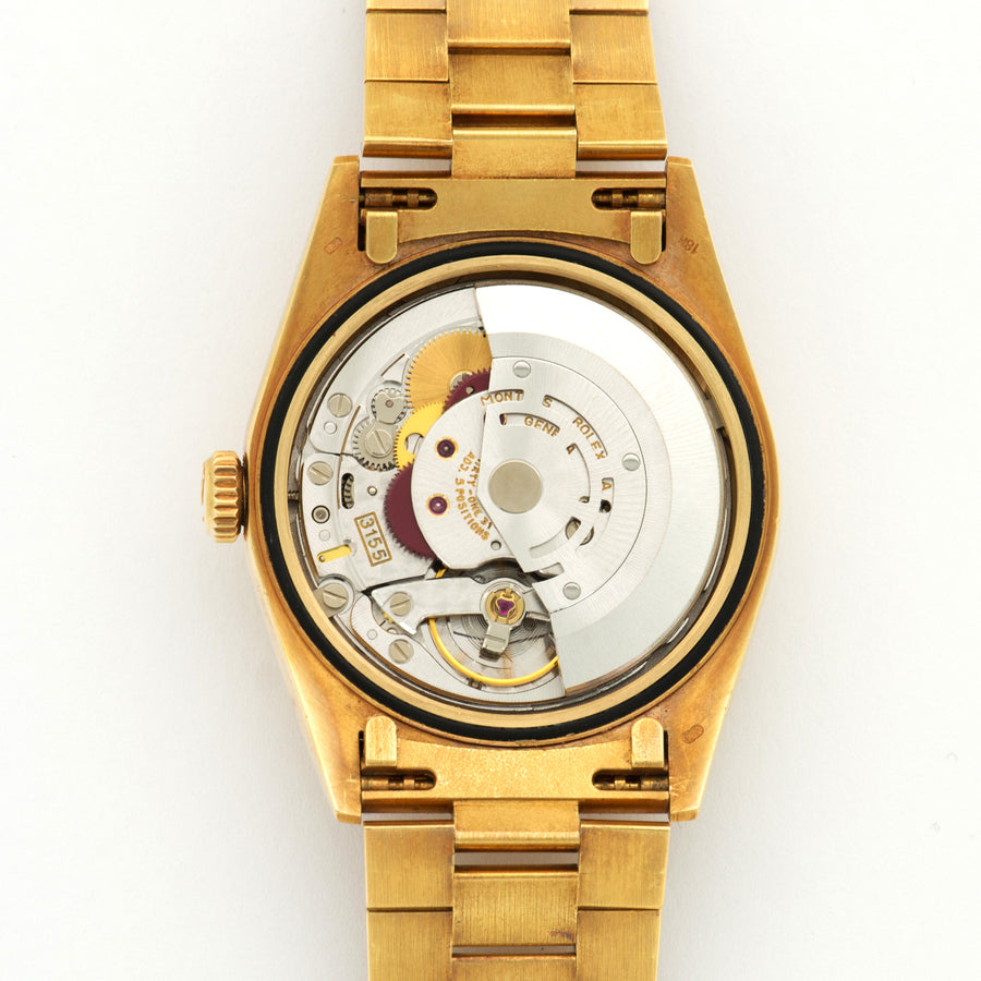 Rolex Yellow Gold Day-Date Baguette Diamond Watch
