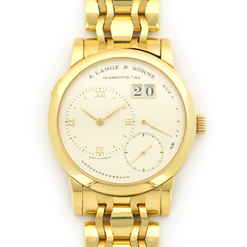 A. Lange & Sohne Yellow Gold Lange 1 Bracelet Watch Ref. 101.021