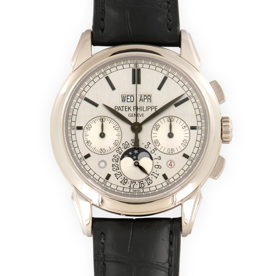 Patek Philippe White Gold Perpetual Calendar Chronograph Watch Ref. 5270