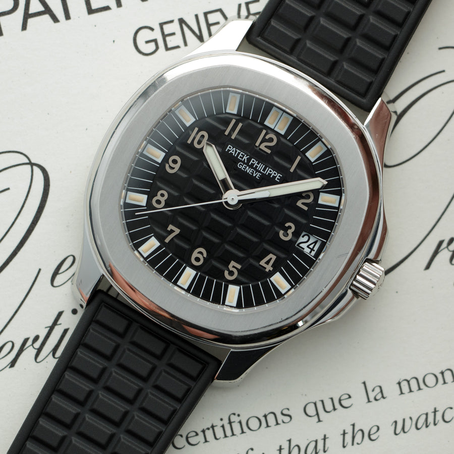 Patek Philippe Aquanaut Jumbo Watch Ref. 5065 with Original Box and Paper
