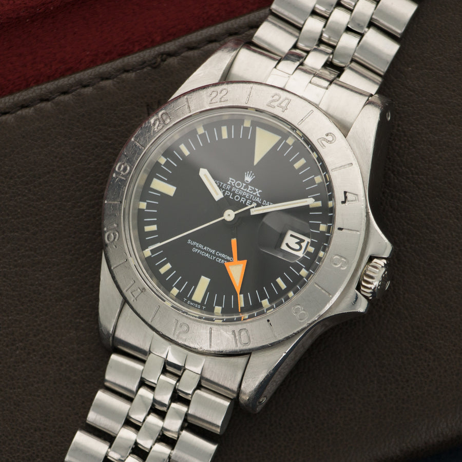 Rolex Steel Explorer II Orange Hand Watch Ref. 1655