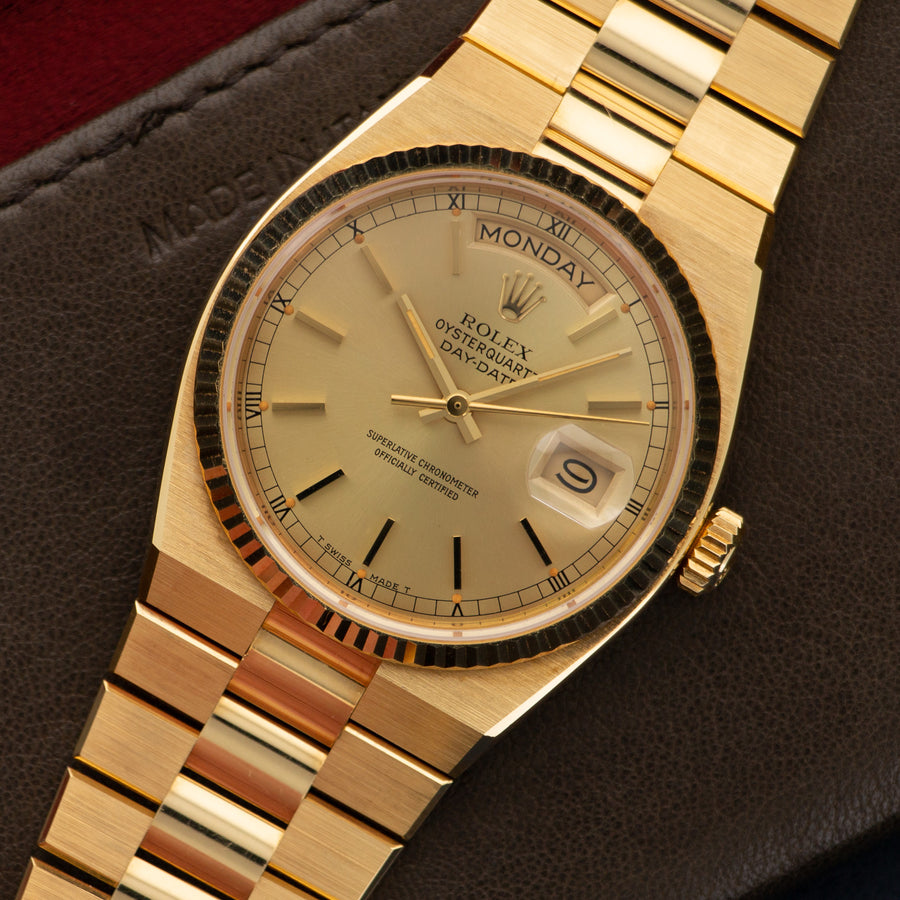 Rolex Yellow Gold Day-Date OysterQuartz Watch Ref. 19018, in Never Worn Condition