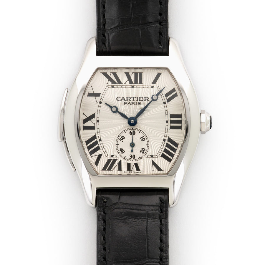 Cartier White Gold Tortue Minute Repeater Watch