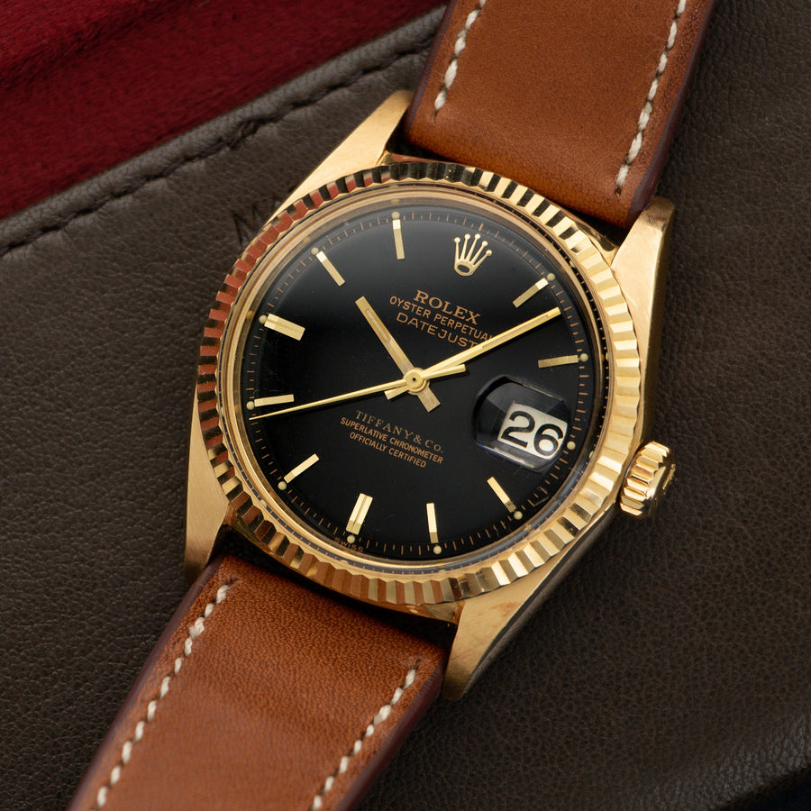 Rolex Yellow Gold Datejust Watch Retailed by Tiffany & Co.