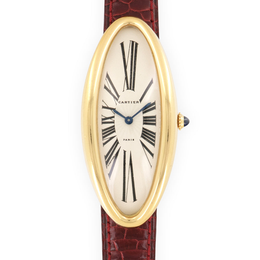 Cartier Yellow Gold Maxi Oval Watch