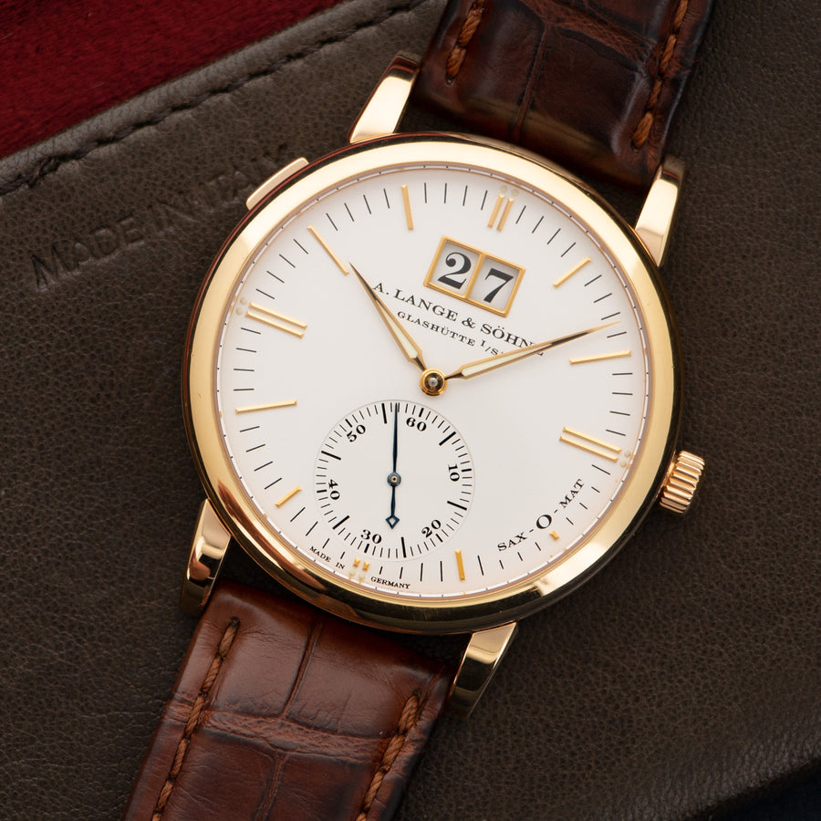 A. Lange & Sohne Rose Gold Saxonia Automatic Watch Ref. 315.032