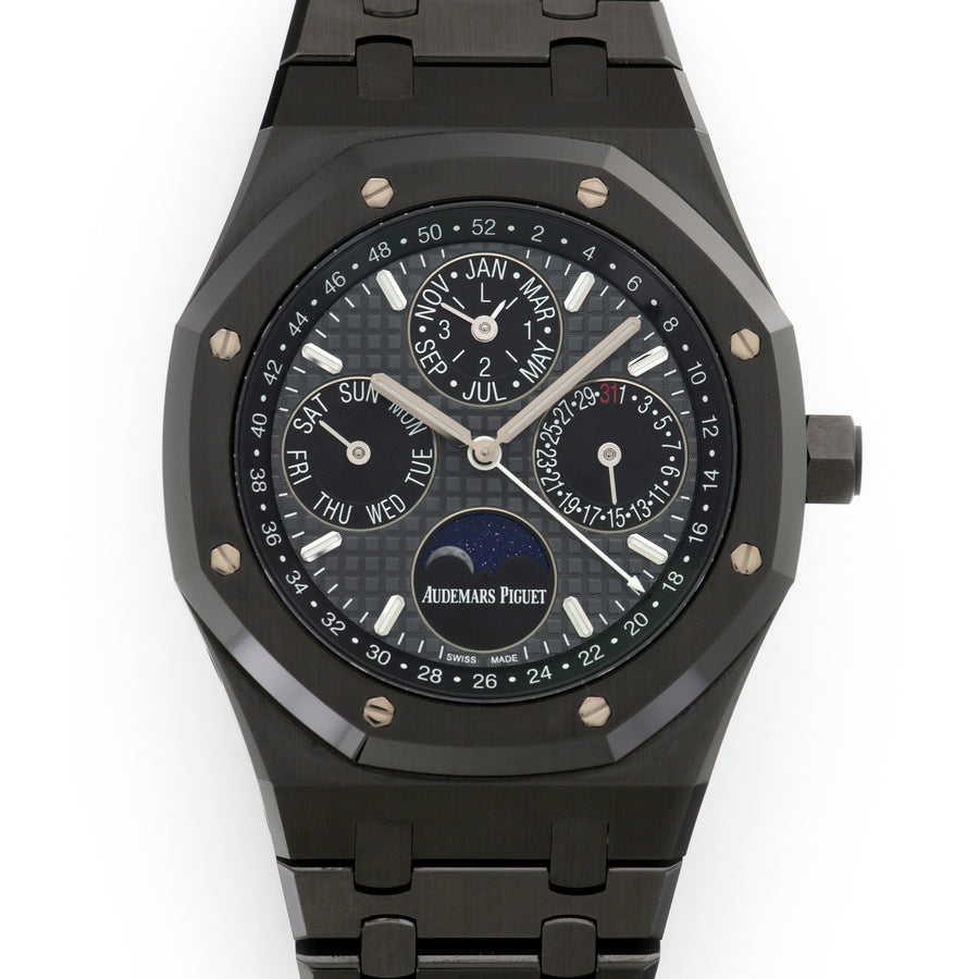 Audemars Piguet Black Ceramic Royal Oak Perpetual Calendar Watch