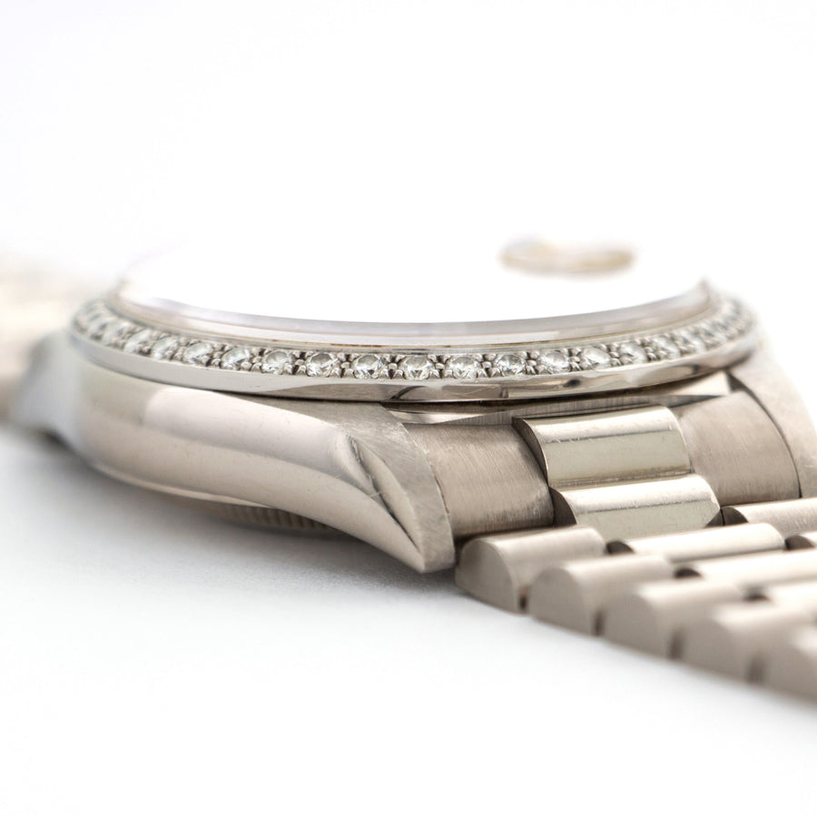 Rolex White Gold Day-Date Crown Collection Diamond Watch