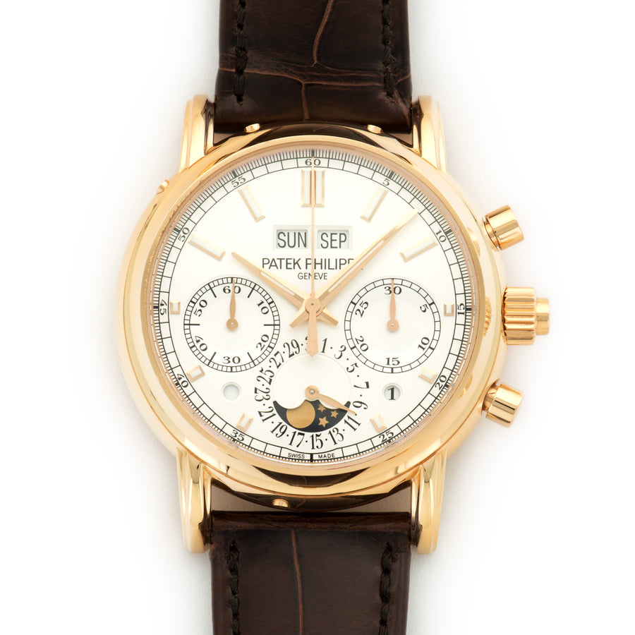Patek Philippe Rose Gold Perpetual Chronograph Split Seconds Watch Ref. 5204