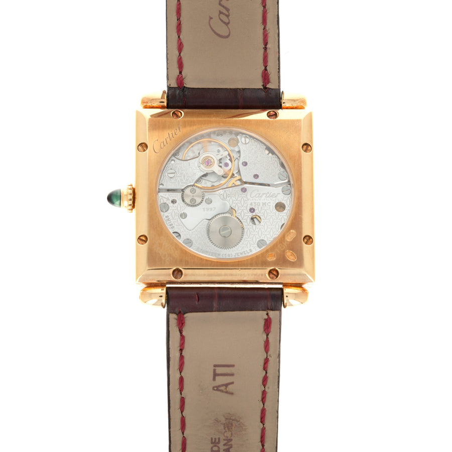 Cartier Yellow Gold Tank Obus