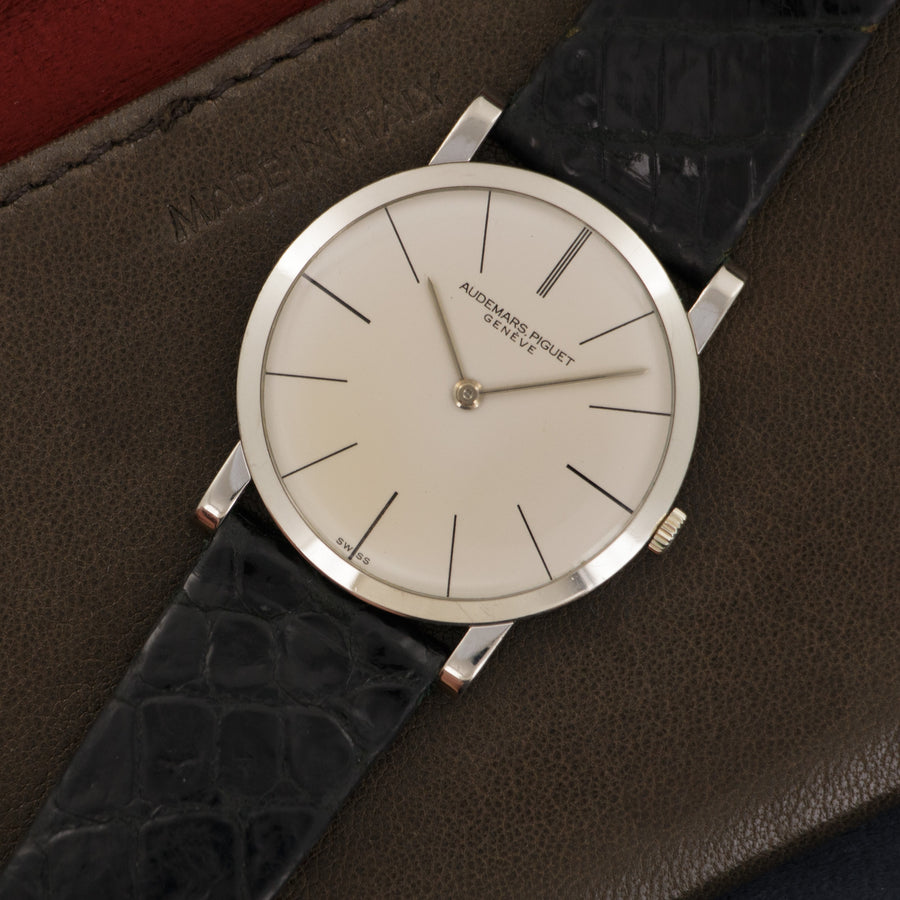 Audemars Piguet White Gold Ultra-Thin Strap Watch