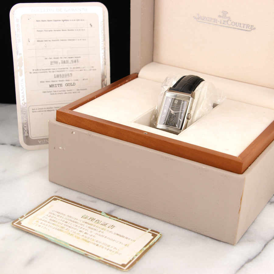 Jaeger Lecoultre White Gold Reverso Day-Night Watch