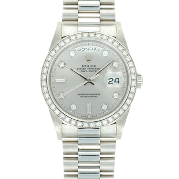 Rolex Platinum Day-Date Ref. 18346 with Diamond Bezel and Dial
