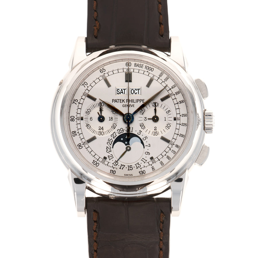 Patek Philippe White Gold Perpetual Calendar Chrono Watch Ref. 5970