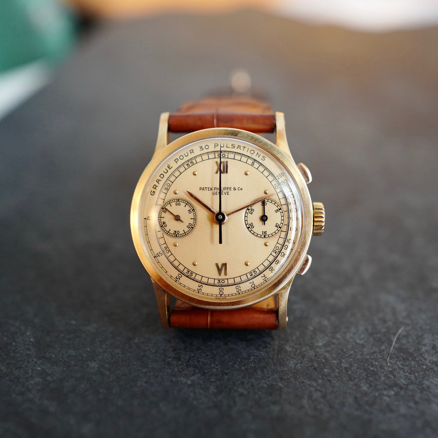 Patek Philippe Rose Gold Chronograph Pulsometer Scale Watch Ref. 533