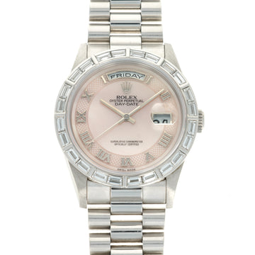 Rolex Platinum Day-Date Mother of Pearl Watch Ref. 18366
