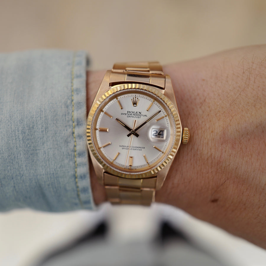 Rolex Rose Gold Datejust Watch Ref. 1601