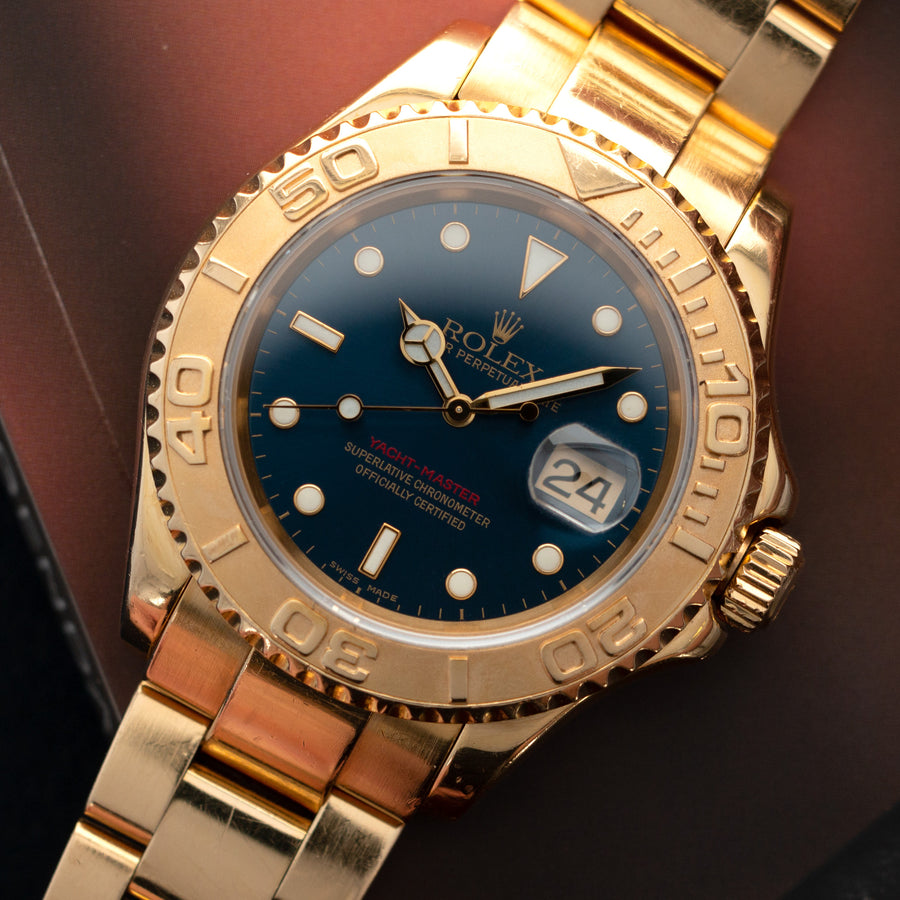 Rolex Yellow Gold Yacht-Master Ref. 16628 with Blue Dial