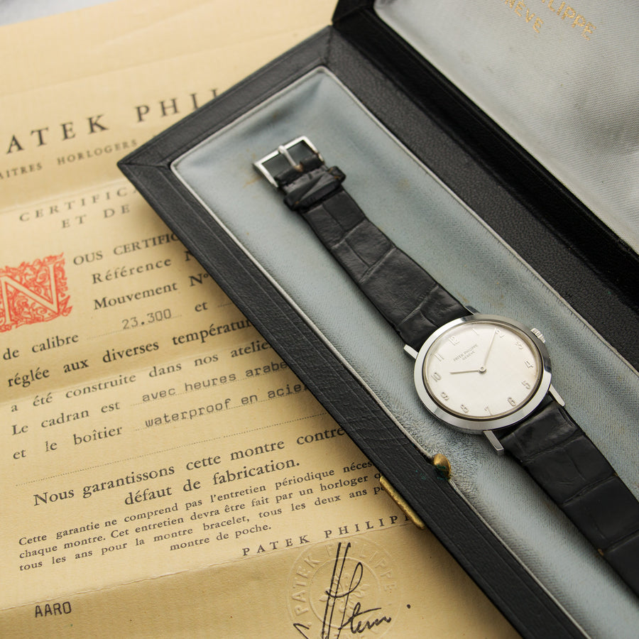 Patek Philippe Steel Calatrava Ref. 3509 with Box and Papers