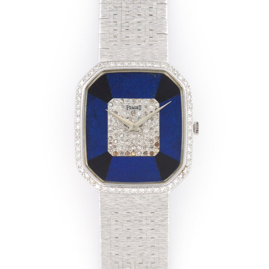 Piaget White Gold Diamond Lapis Onyx Watch