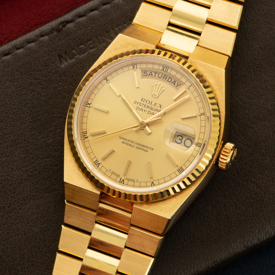 Rolex Yellow Gold Day-Date OysterQuartz Watch Ref. 19018