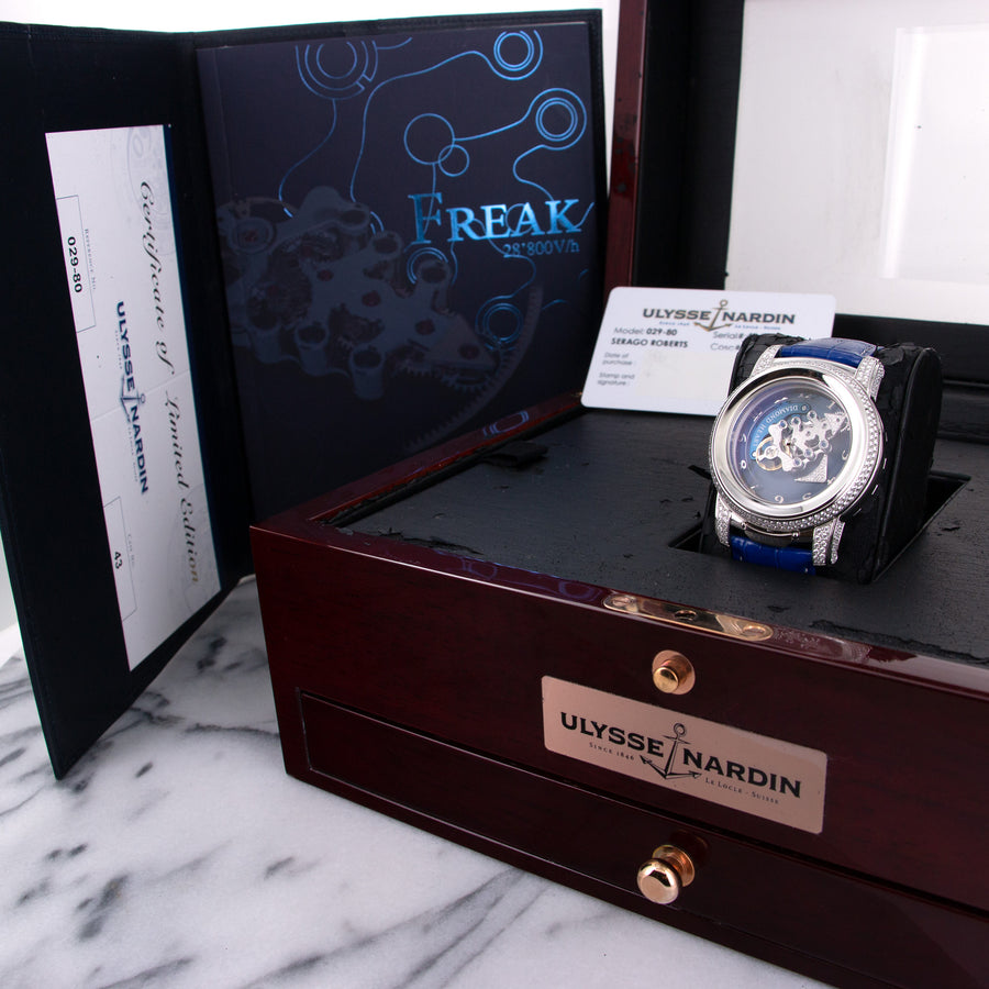 Ulysse Nardin Platinum Diamond Heart Freak Watch