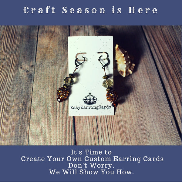 """How To Design Your Own Earring Cards With """"Canva"""""""