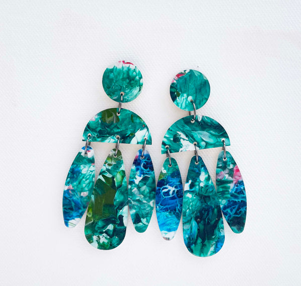 Resin Statement Earrings