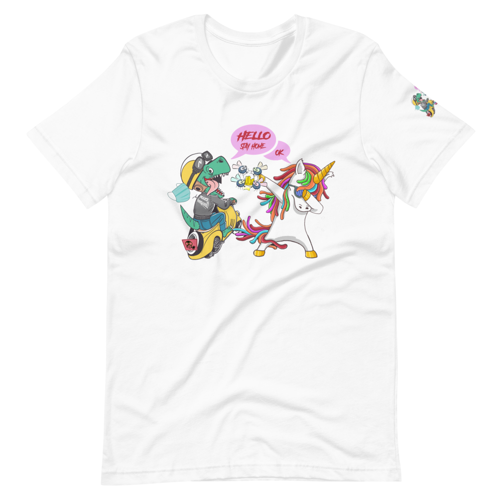 Dinosaur T-Rex & Unicorn T-Shirt Design