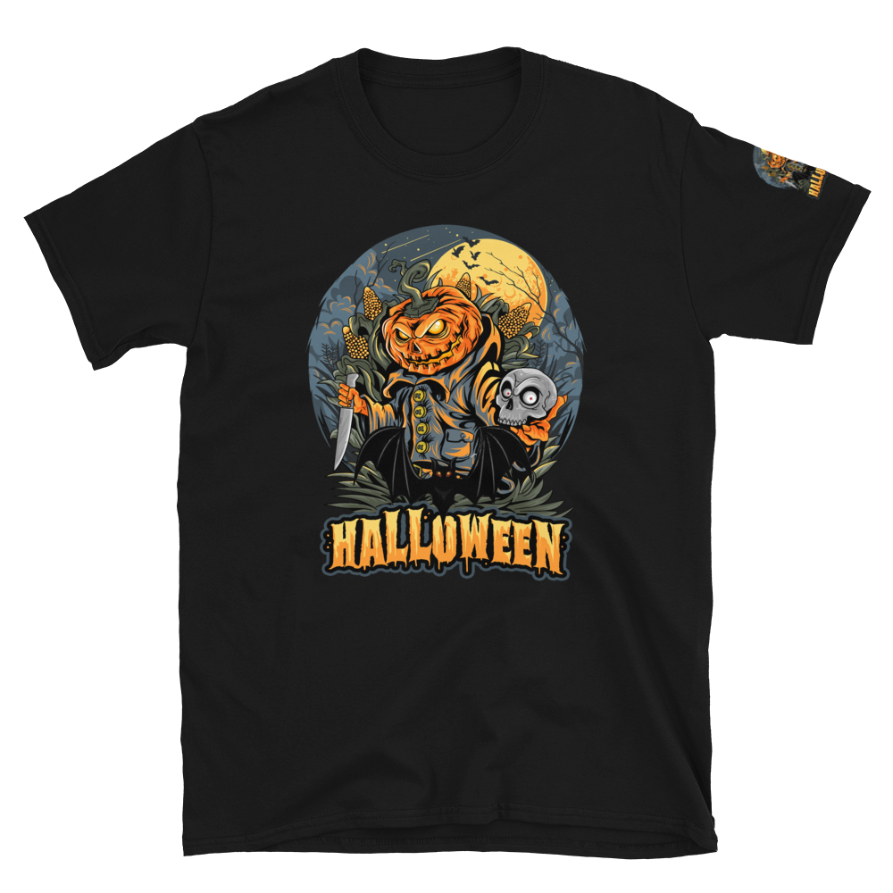 Halloween bats scary skull T-Shirt