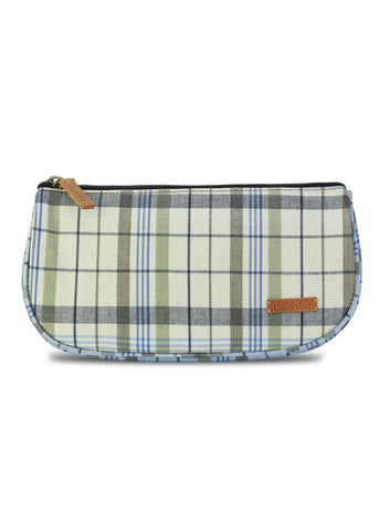 Cosmetic Purse : Gray n Blue *** Sale 50%