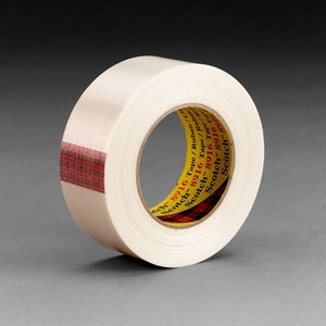 3M Scotch Filament Tape 8916 Clear Clean Removal 18 mm x 55 m 48 rolls per case