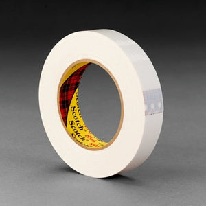 3M Scotch Filament Tape 896 White 18 mm x 55 m 48 rolls per case