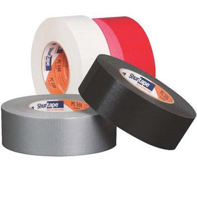 Shurtape PC 599 Co-Extruded Heavy Duty Duct Tape White, 48 mm x 55 m