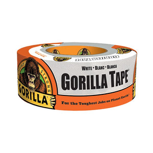 "Gorilla 1.88"" x 10 yd Roll White Duct Tape"