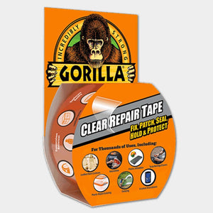 Gorilla 1.88  x 27 Clear All-Purpose Repair Tape
